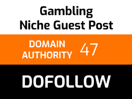 Write and publish 1 gambling guest post