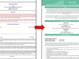 Review your CV then provide expert and professional feedback