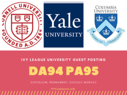 Guest Post Harvard / Yale / Columbia / Cornell / NYU DA90+ sites