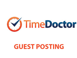 Publish a guest post on Time Doctor Blog