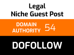 Write and publish 1 legal guest post