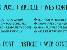⭐ write SEO-friendly blogs, articles, web content 1000 words ⭐