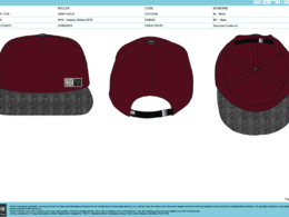 Create a CAD design and detailed tech pack of a hat