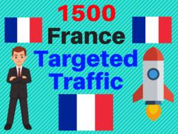 Send 1500 FRANCE TARGETED traffic adsense safe