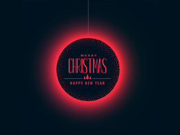 Design Christmas & New Year Invitation, postcard, Greetings Card
