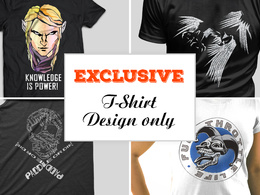 Create an exclusive top quality illustration art for your Tshirt