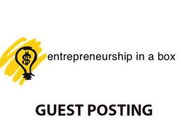 Publish a guest post on Entrepreneurshipinabox
