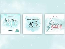 Design Christmas Banner or Social media post