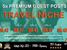 5X High DA 40+ Guest Post  *Travel Niche* Blogger Outreach