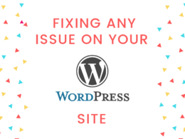 Fix any Bug / Trouble on your WordPress Site