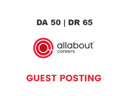 Publish a guest post on AllAboutCareers DA 50,  DR 65