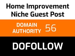 Write and publish 1 home improvement guest post