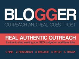 5 Unique Blogger Outreach on DA25-45 Blogs (any category)