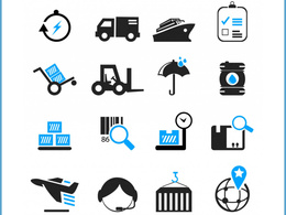 Design Professional Flat Icon Set (Unlimited Revisions)
