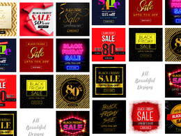 Design BLACK FRIDAY banners