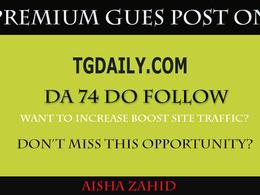 Guest posting on TGDAILY– TGDAILY.COM – DA 74