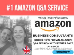 Amazon Q&A session - Amazon Expert Remote Consultancy - 1 hour