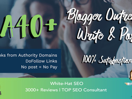 Guest post DA40+ Link Building Do Follow Blogger outreach
