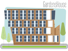Make an Digital illustration of a building