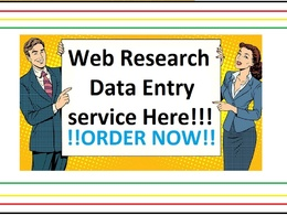 Do 2 hours of  data entry or Web Research