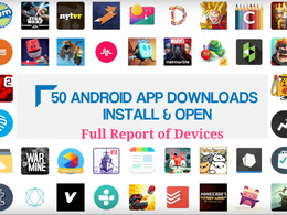 Give 50 Real Permanent Android App Installs Open with FullReport