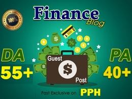 Write & guest post on 3 Finance Niche  DoFollow DA 55+ TF20+
