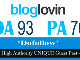 """Write and publish UNIQUE Guest Post on """"Bloglovin"""" DA-92"""