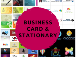 Design business card and office stationary