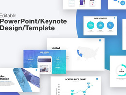 Design 25 slides editable Powerpoint/Keynote presentation