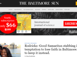 Guest Post On Baltimoresun.com - Baltimoresun DA91 , PA65