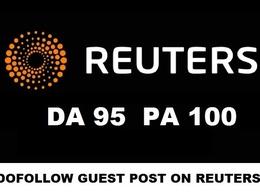Write and publish a Guest Post PR on Reuters - Reuters.com DA 94