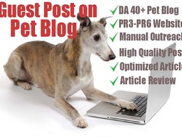 Write and publish guest post on DA25-DA60 pet (dog & cat) blog
