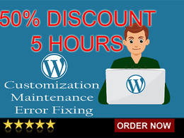 50% Discount on 5 hours of WordPress customization & maintenance