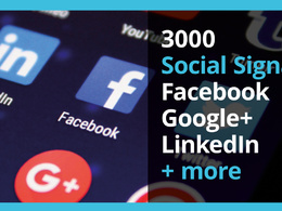 Deliver 3000 Social Signals (Facebook, LinkedIn, Google+ & more
