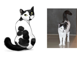 Draw your pet or any animal in a cute cartoon or manga style