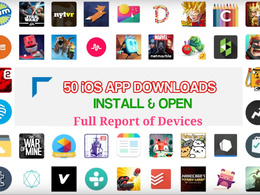 Give 50 Real Permanent iOS App Installs Open with Full Report