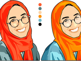 Design a 2D vector cartoon character or caricature