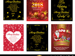 Design professional flyer, Christmas Flyer, New Year Flyer, Post