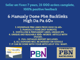 I can Do 6 Premium Highest Quality Home Page Pbn Backlinks