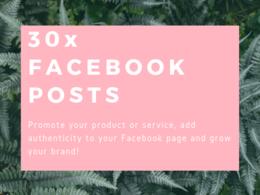 Write 30x Facebook posts