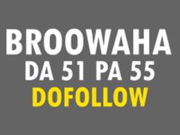Publish a guest post on Broowaha DA 71 PA 51 – Broowaha.com
