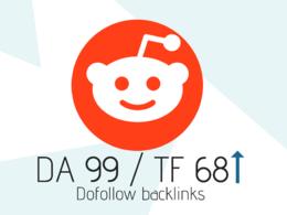 Permanent Reddit Dofollow DA99 / TF68 Backlink