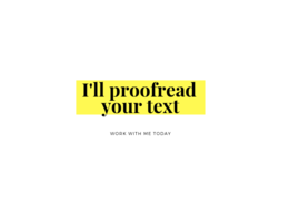 Proofread a 500-word text