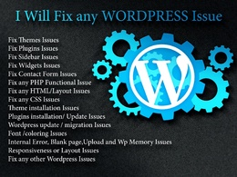 Fix all your Wordpress website issues within 1 hour