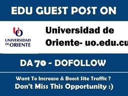 Guest post on  Universidad de Oriente DA70 Dofollow Indexable