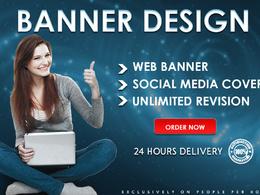 Design unique web banner or social media cover