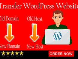 I will transfer your WordPress site to a new server or domain