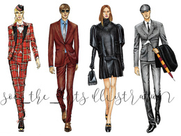 Create fashion illustration from a photo provided by you