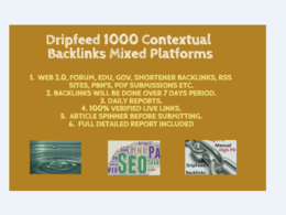 Do 1000 Dripfeed Contextual Backlinks Over 7 Days