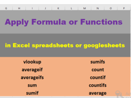 Apply up to 10 Formulas on your data in excel or google sheets